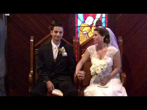 wedding Ceremony of Brooke & Jason at Holy Trinity Episcopal Chapel in Melbourne Florida