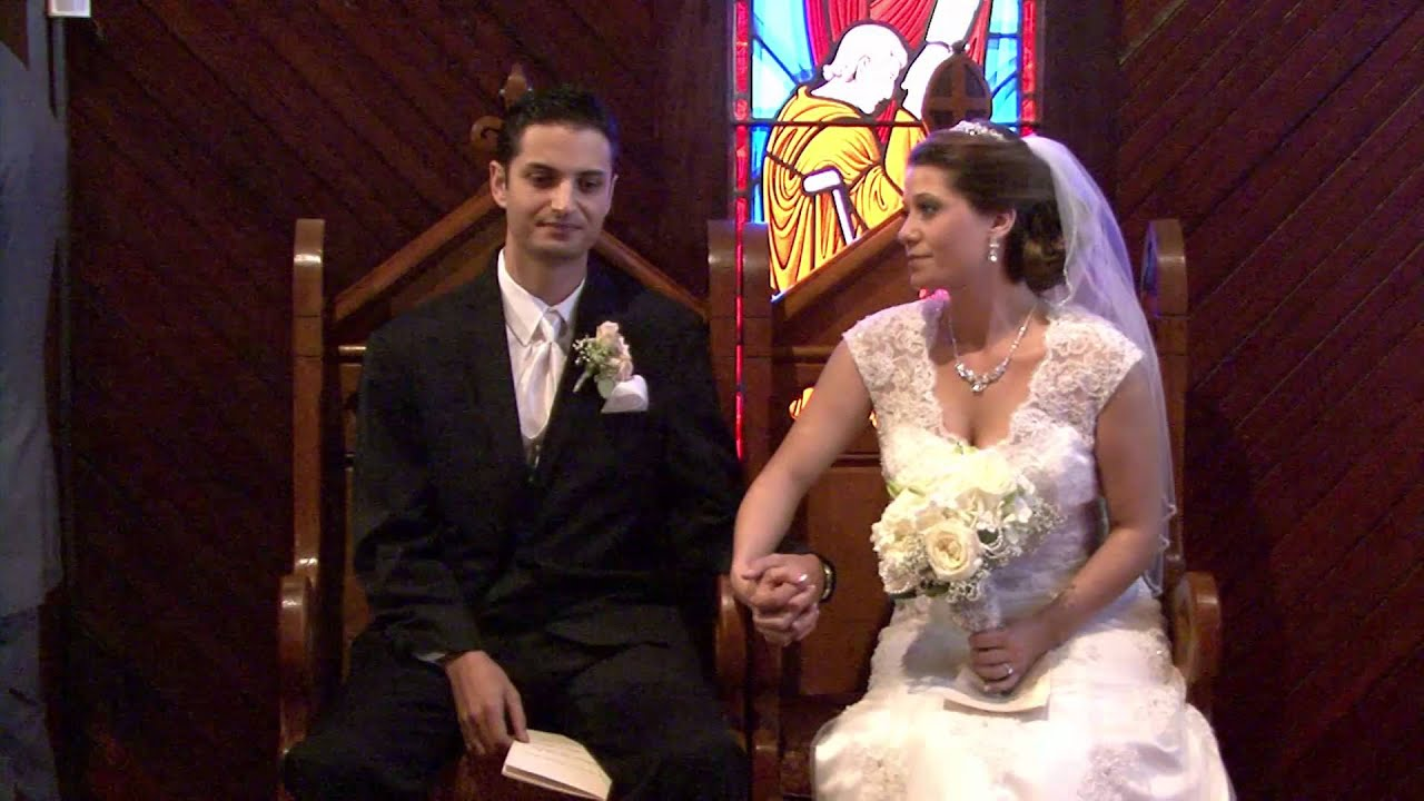 wedding ceremony of brooke jason at holy trinity episcopal chapel in melbourne florida