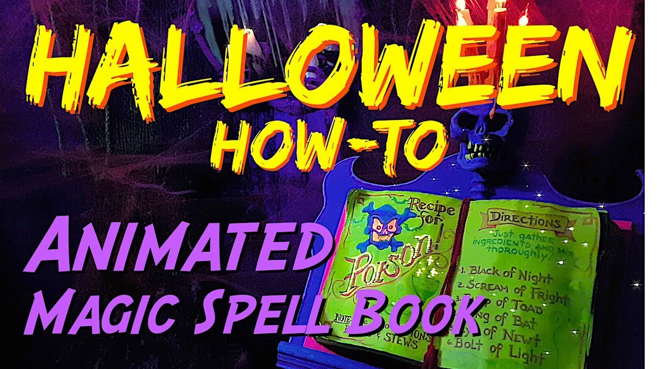 diy animated magic spell book halloween decoration prop - youtube