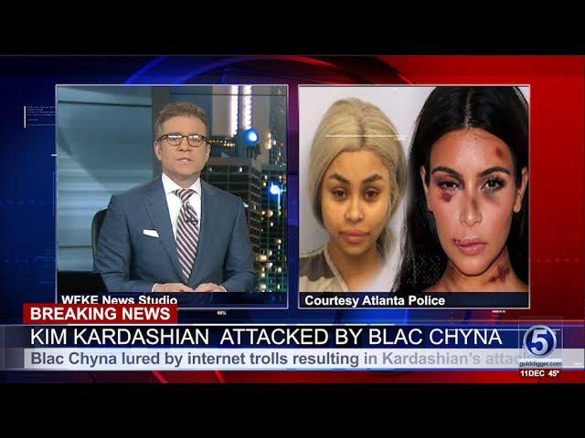 Kim Kardashian gets beat up by Blac Chyna???