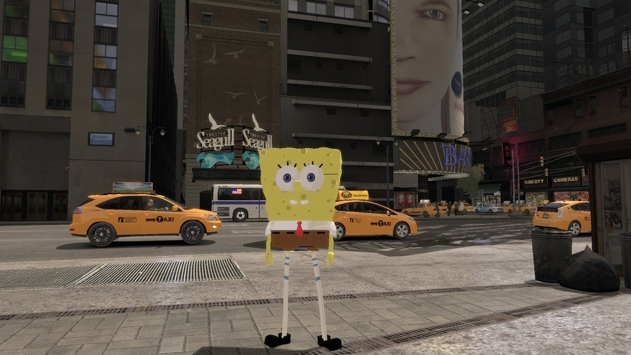 Grand Theft Auto IV - SpongeBob SquarePants (MOD) HD - YouTube