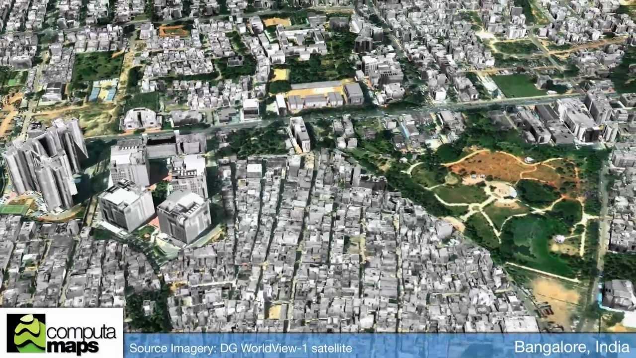 satellite map of bangalore city Bangalore India Youtube satellite map of bangalore city