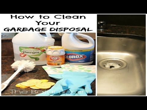 How to Clean your garbage disposal