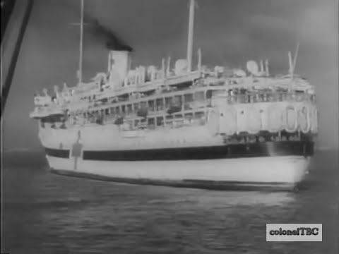 American hospital ship brings wounded home from war - 1943