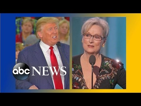 Trump Reacts to Meryl Streep's Golden Globes Speech