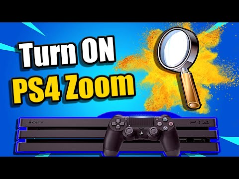How to Turn ON PS4 ZOOM Accessibility Option (Playstation Tips)