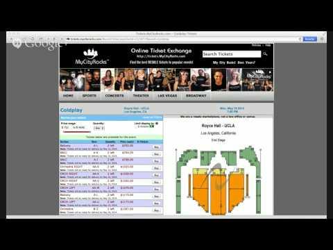 Coldplay Tickets Los Angeles LA CA UCLA Royce Hall 05/19/2014
