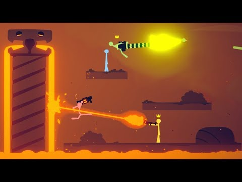 LAVA LAZERS and MAGMA TEMPLES! - Huge new Stick Fight Update! - Stick Fight Gameplay