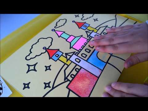 Sand Art for Children - Making a Sand Art Picture with Kids Bee Happy