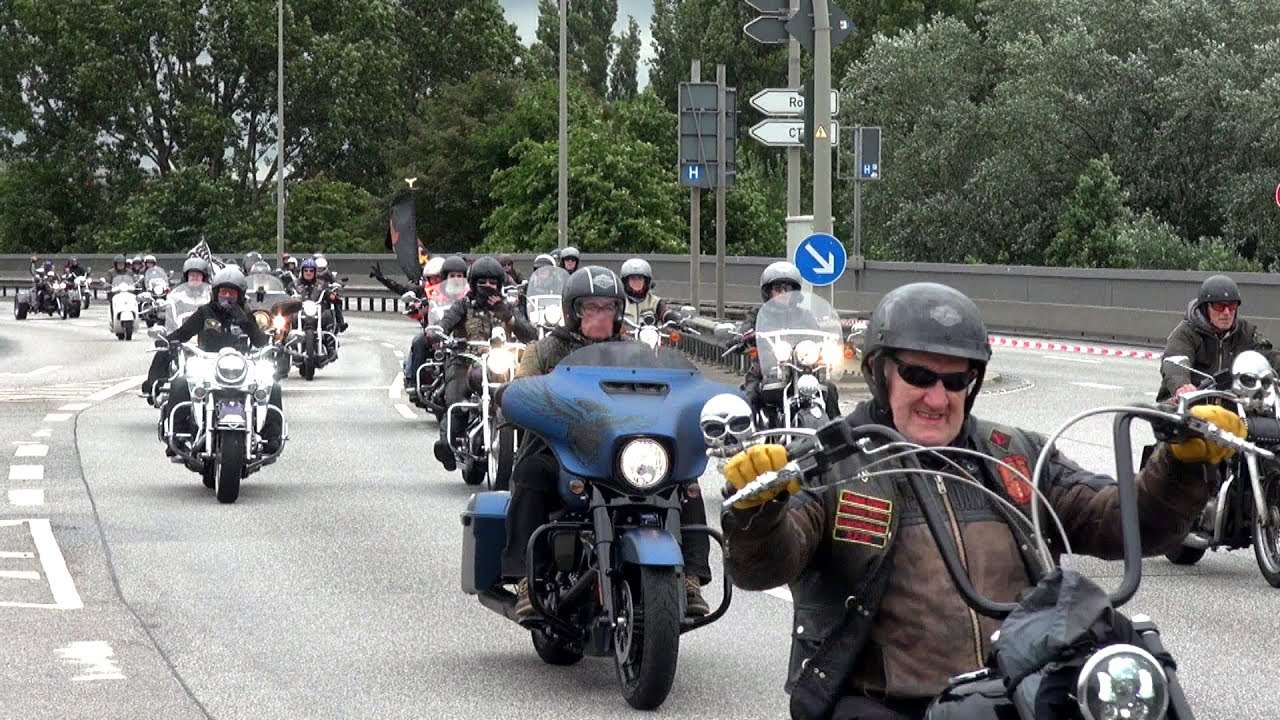 Harley Days Parade Hamburg 2018 / Köhlbrandbrücke - YouTube