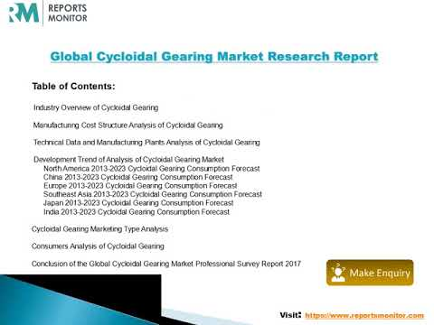 Global and North America Cycloidal Gearing Market Status and Future Forecast 2013 2023