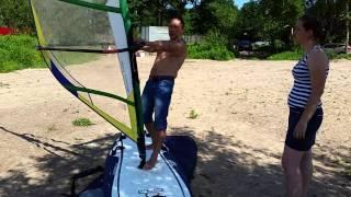 Урок виндсерфинга. Клуб инструкторов SkiFactor, мы на http://www.skifactor.ru/