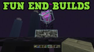 Minecraft Xbox 360 / PS3 - 5 Fun Builds in The End