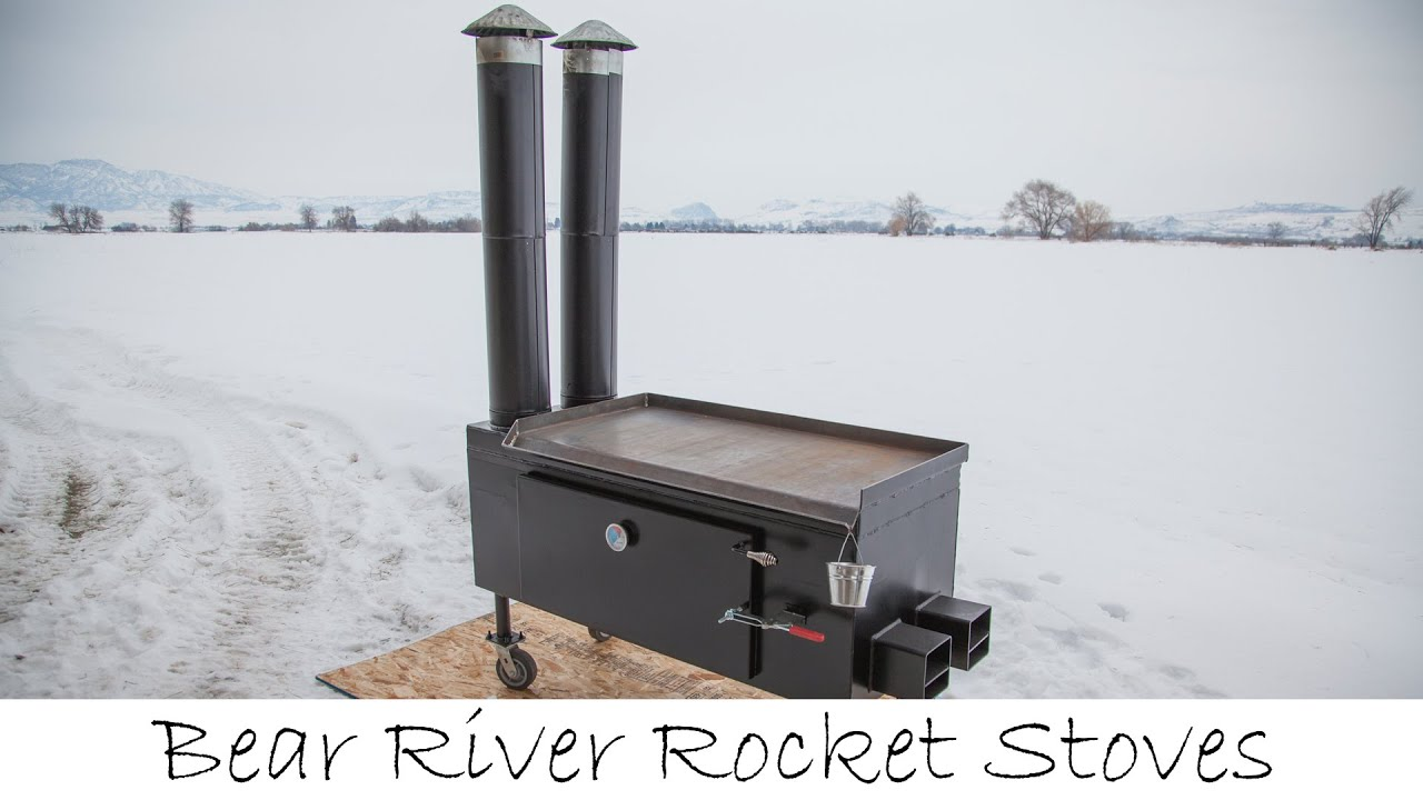 Intro to bear river rocket stoves youtube for Rocket stove heater design