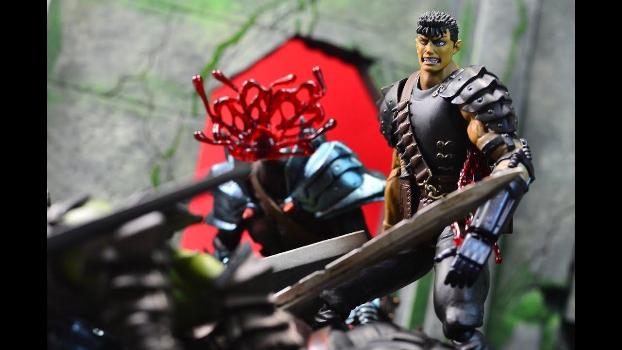 In Box Berserk Guts Figma 359 Black Swordsman ver Repainted Edition Figurine