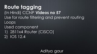 Routing loop prevention using Route tagging  CCNP (v-57)