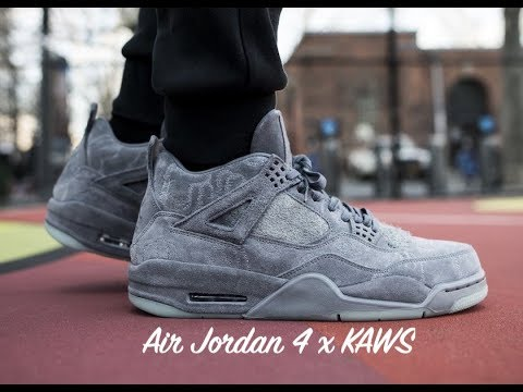 5305fcef038d90 Nike Air Jordan 4 Retro x KAWS unboxing and review. Kicks and Kaffeine