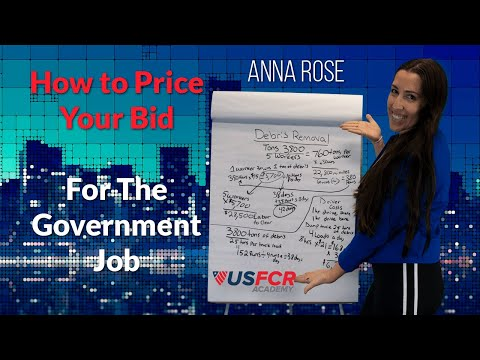 How To Price Your Bid For A Government Job With Anna Rose