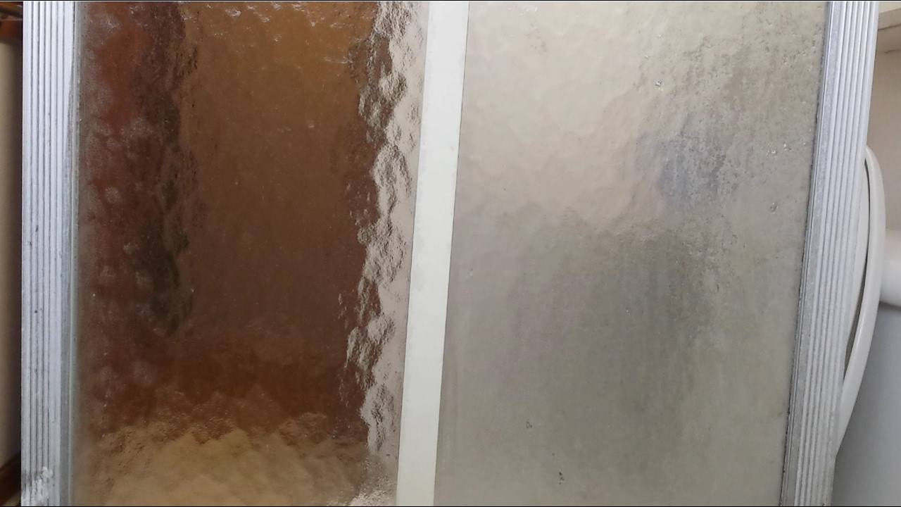 How To Clean A Glass Shower Door With Bar Keepers Friend.