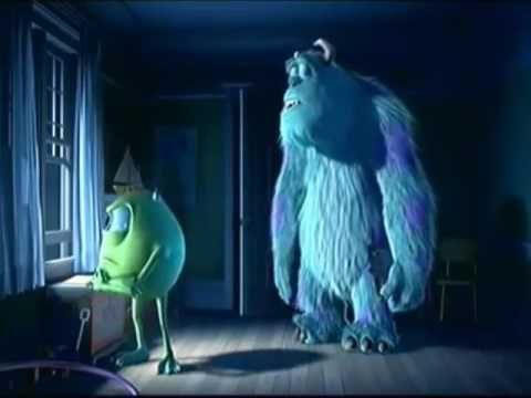 Monsters, Inc. trailer but important moments are zoomed up and the sound gets louder