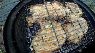 СВИНЫЕ стейки на углях PORK steaks on the coals