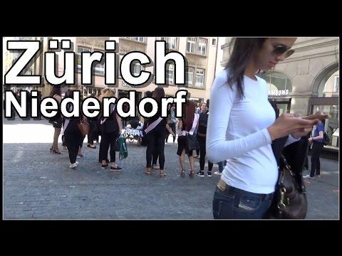 Niederdorf Zürich (walking video) Switzerland 2016