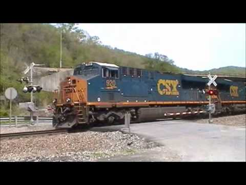 csx trains at watkins and speers ferry virginia