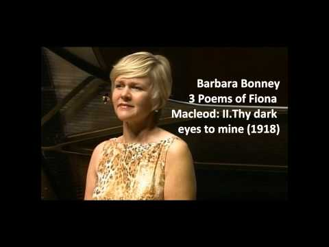 """Barbara Bonney: The complete """"3 poems of Fiona Macleod"""" (Griffes)"""
