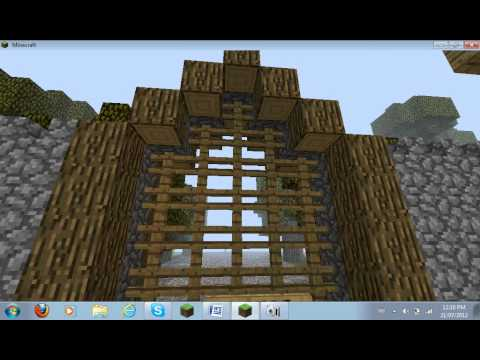 minecraft medieval town 5 castle walls and fire youtube