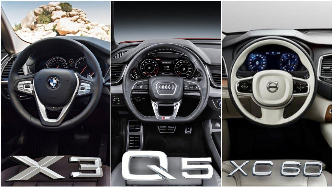 Volvo Xc60 Vs Audi Q5 Vs Bmw X3 Interior Design Youtube
