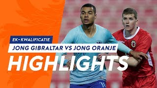 Samenvatting Jong Gibraltar - Jong Oranje (EK kwalificatie)