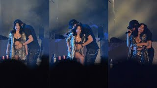 Enrique Iglesias with Lali Esposito on stage In Argentina