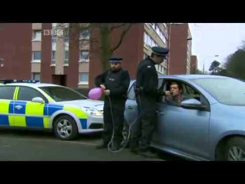 Laughing gas with police