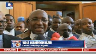 News@10: Court Of Appeal Withdraws From Ondo PDP Case 01/11/16 Pt. 2