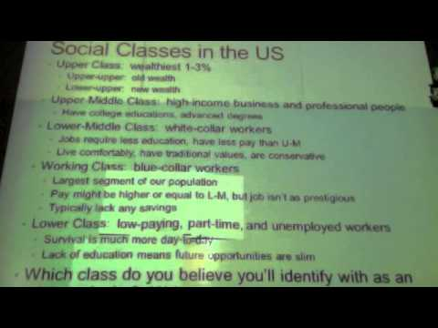 sociology 9.2 lecture - american social classes