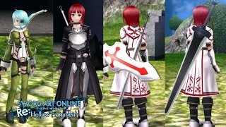 Sword Art Online Re: Hollow Fragment PS4 DLC - GGO / ALO - costumes / weapons and more!