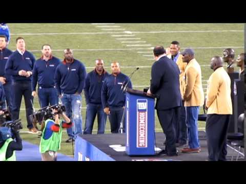 Michael Strahan Ring of Excellence Ceremony 11/3/2014