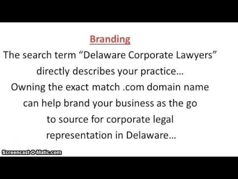 Delaware Corporate Lawyers Domain Video