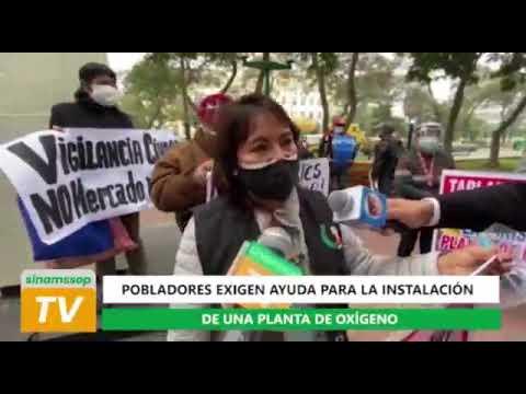 POBLADORES DE VILLA MARÍA EXIGEN PLANTAS DE OXÍGENO PARA EVITAR MAYORES MUERTES