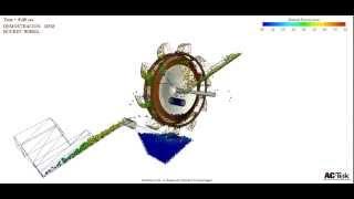 NEWTON - DEM Video  solo de Demostracion, Rotopala  de 12 m de diámetro