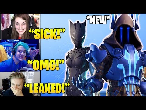 STREAMERS Reacts TO *NEW* Season 7 BATTLE PASS Skins! LEAKED! (Fortnite FUNNY & Daily Moments)