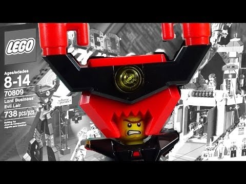 LEGO Movie Lord Business' Evil Lair 70809 Review