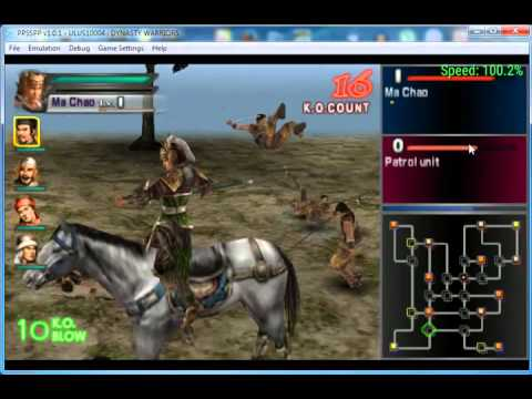 Dynasty warriors emulator psp rom iso download [playable on pc.