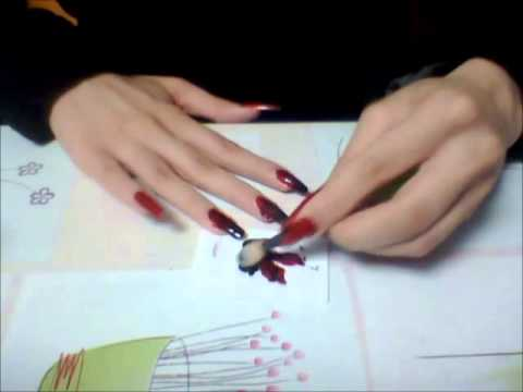 Vampire Nails Red To Black Gradient Tutorial Youtube