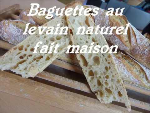 baguettes de tradition française  au levain naturel et pain rustique