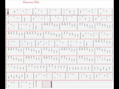 Guitar guitar tabs pictures : Harmony Guitar Tabs from Runescape. - YouTube