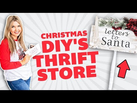 Trash to Treasure Projects 🎄 Christmas Thrift to Treasure 🎄 Farmhouse Christmas Decorating ideas