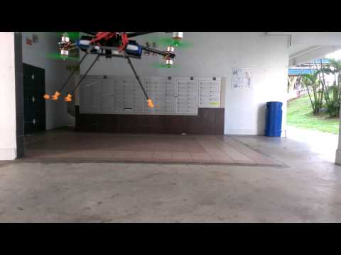 Low cost aerial shooting drone with kk2, octo x8-x