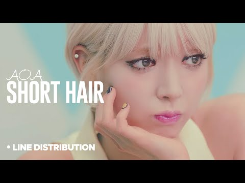 AOA - Short Hair : Line Distribution (Color Coded)