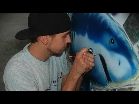 Download Sharks painted on Citroen DS3 Cabrio - aerograf airbrush